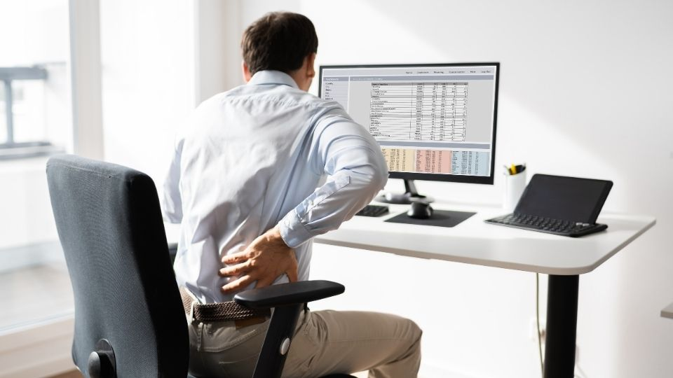 cad bad office chair cause low back pain