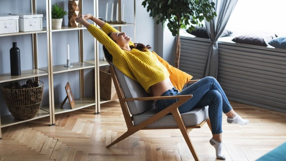 woman comfortable office chair