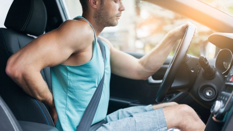 sitting in car with herniated disc