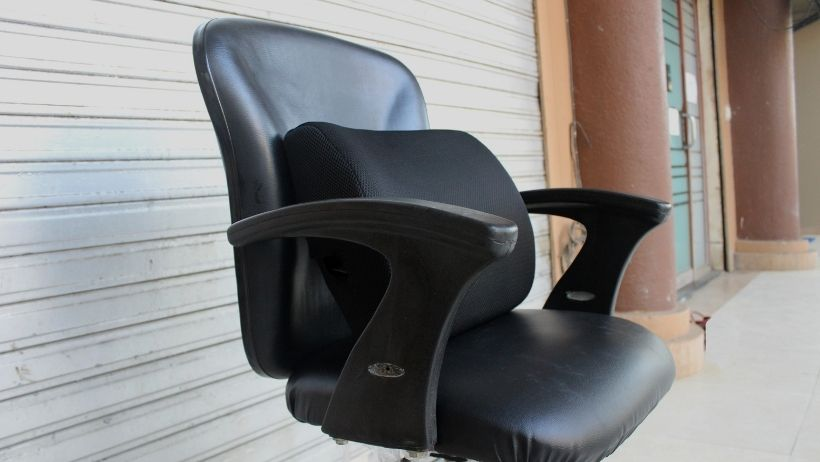 back lumbar cushion on office chair