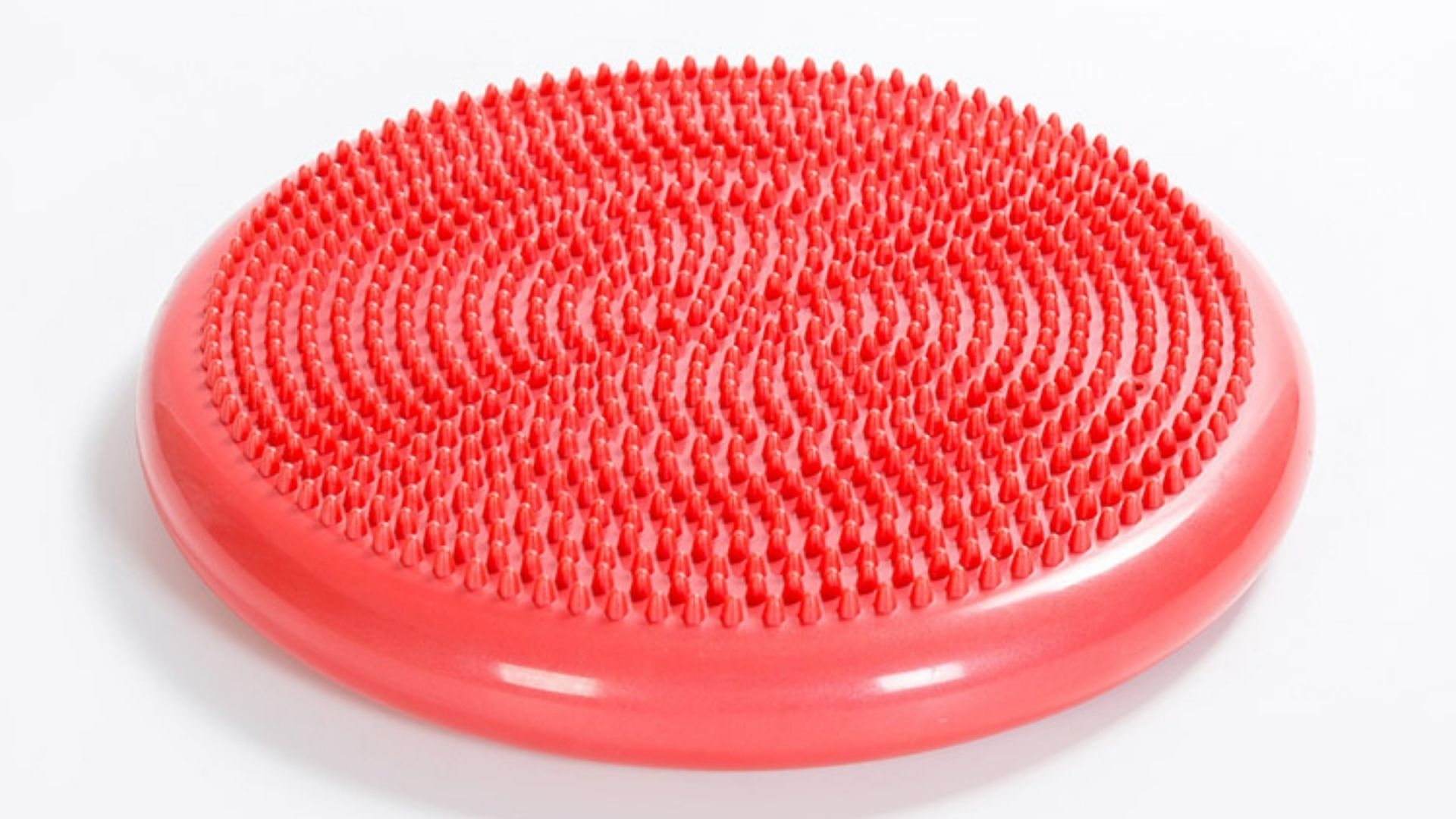 red wobble cushion