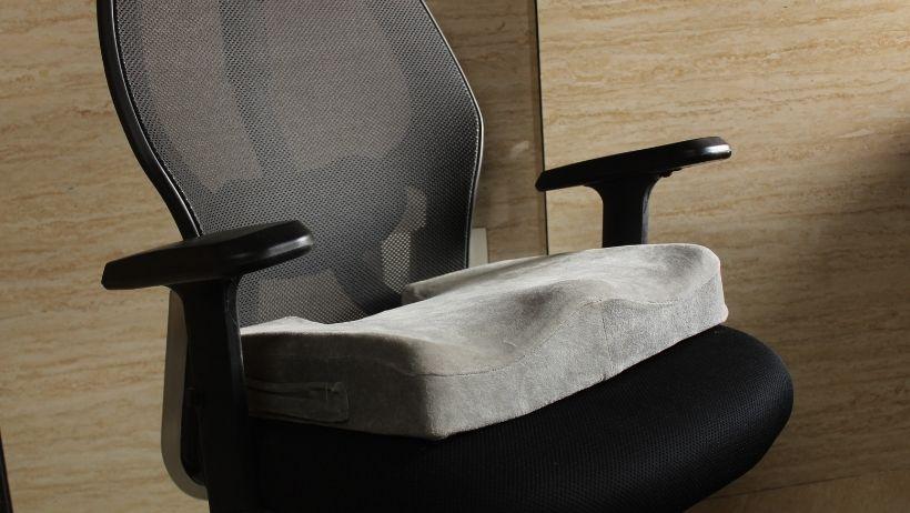 ergonomic seat cushion on office chair
