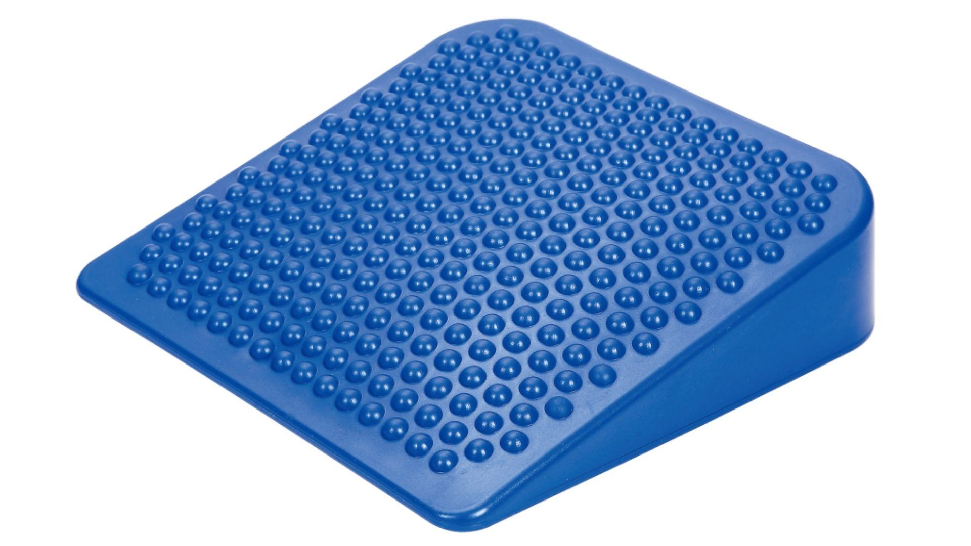 blue inflatable wobble cushion wedge
