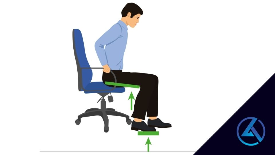 drawing of man getting up from chair correctly
