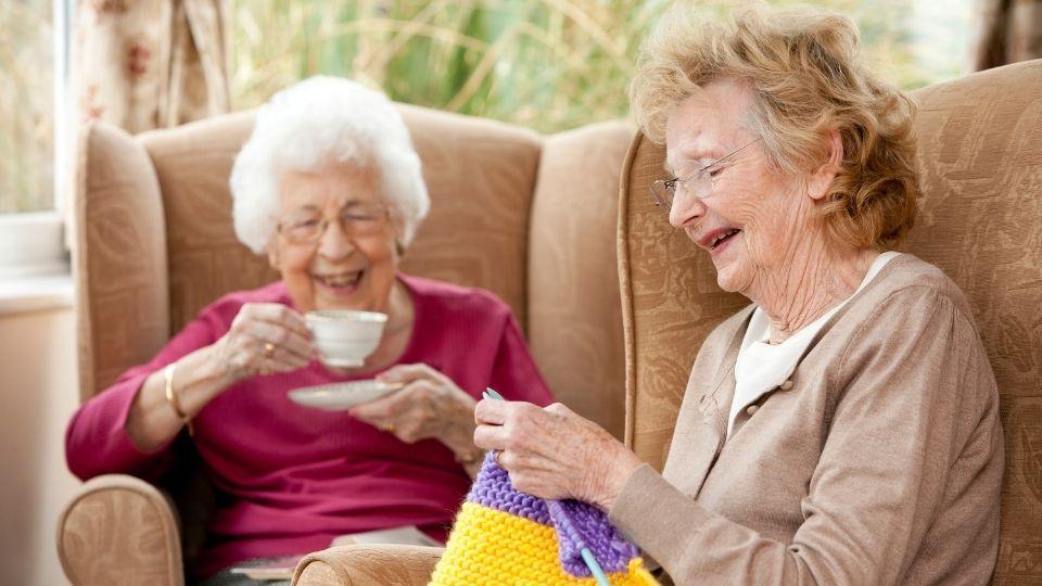elderly ladies sitting