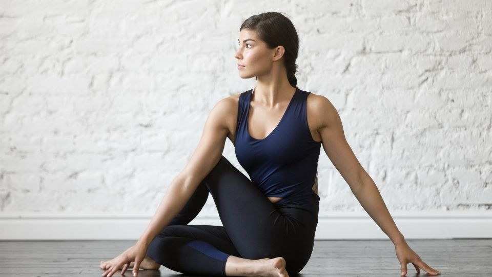 Pilates SI joint stretch