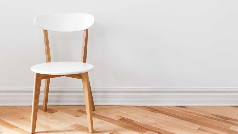flat wooden chair